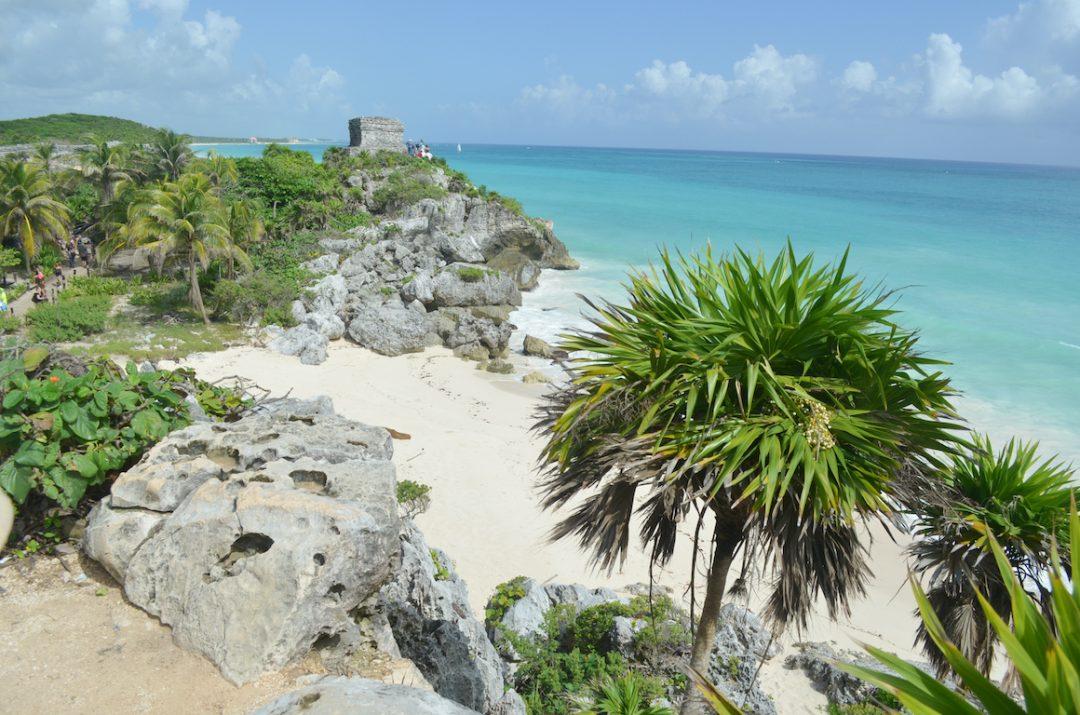 Postkarten Motiv: Die Maya-Ruinen von Tulum in Mexiko