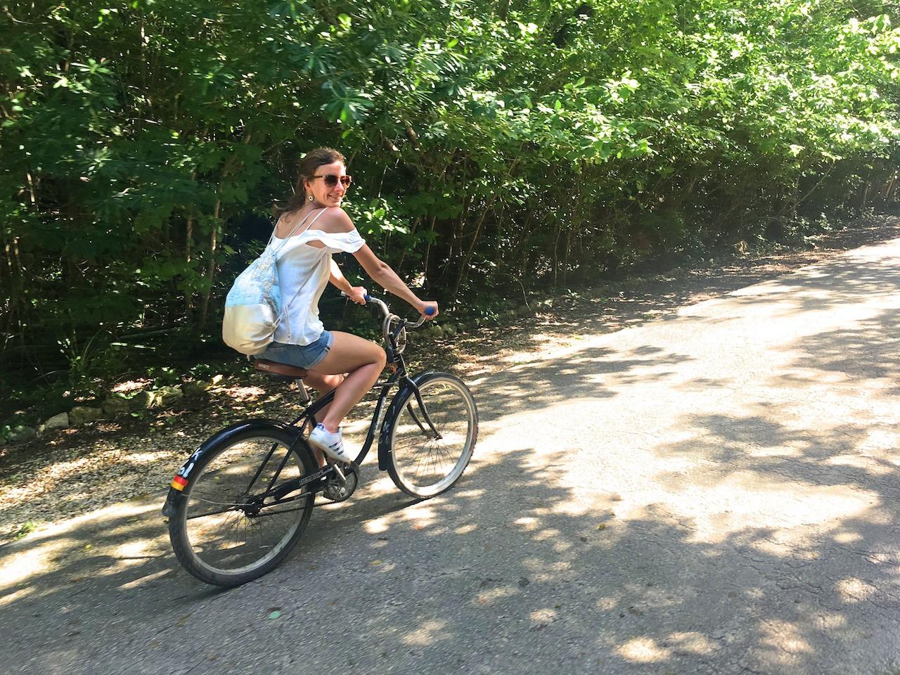 Meine Lieblingsfortbewegungsart in Tulum war ganz klar das Fahrrad!