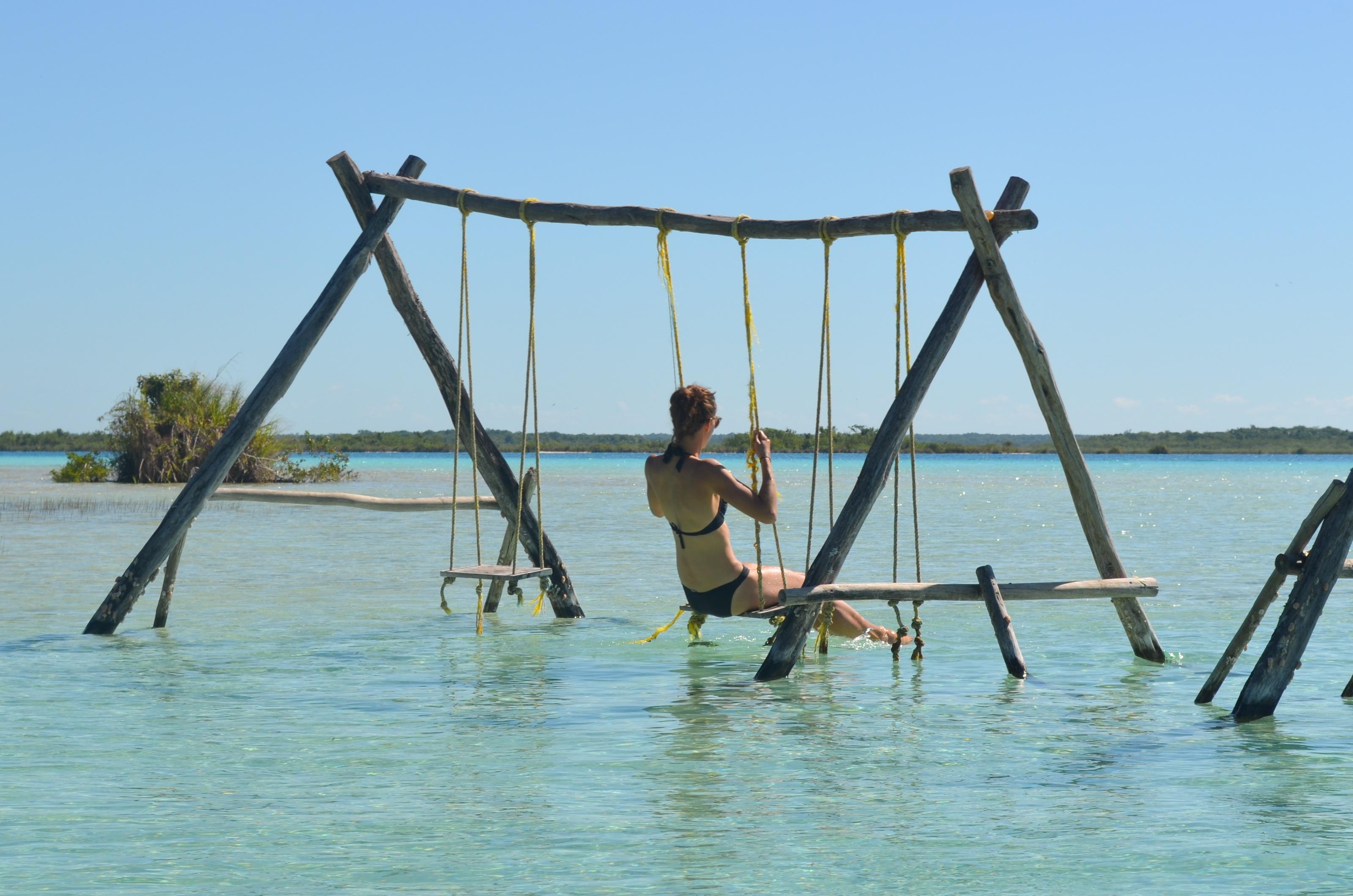 Einfach mal abschalten und die Seele baumeln lassen an der Laguna Bacalar.