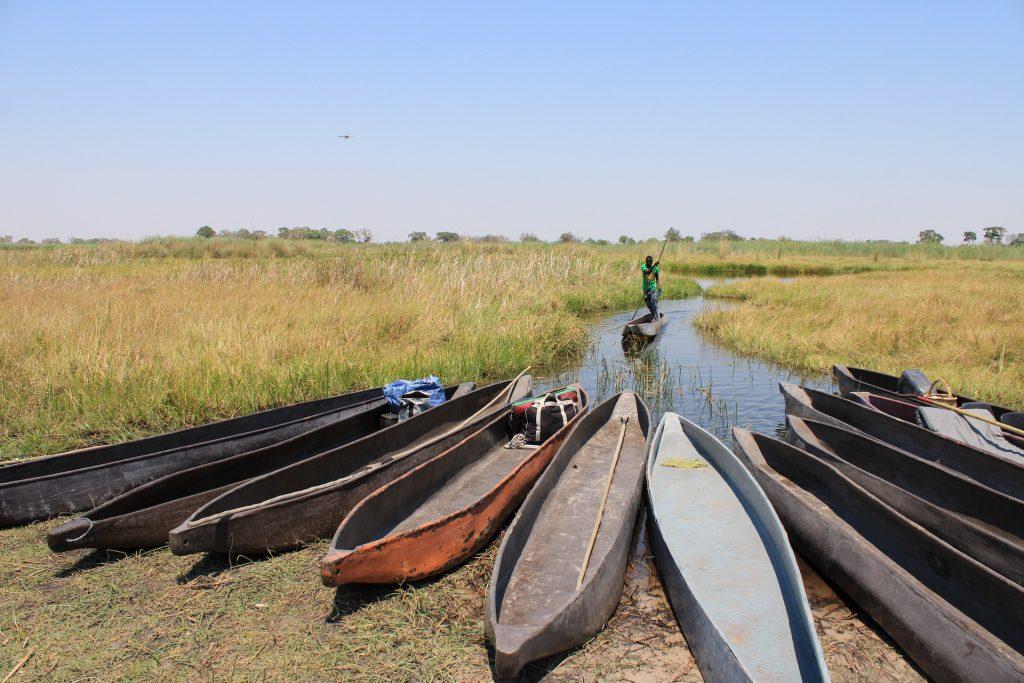 Startschuss für unsere mehrtägige Tour durch das Okavango Delta.